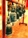 Klokken bij tempels royalty-vrije stock fotografie