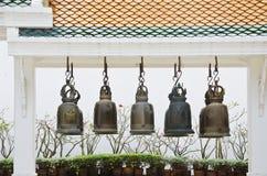 Klokken bij Thaise tempel Royalty-vrije Stock Foto
