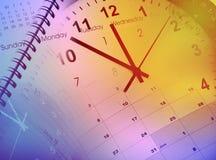 Klokken en kalenders Royalty-vrije Stock Afbeeldingen