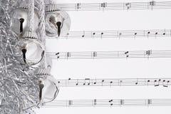 Klokken en muziek Stock Foto's