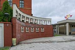 Klokken van Goddelijk Genadeheiligdom in Krakau, Polen Royalty-vrije Stock Foto's