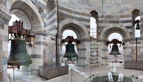 Klokken van Leunende Toren Pisa Italië Royalty-vrije Stock Afbeelding