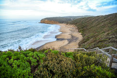 Klokkenstrand dichtbij Torquay, Australië stock foto's