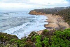 Klokkenstrand dichtbij Torquay, Australië royalty-vrije stock fotografie
