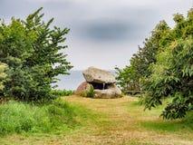 Klokkestenen bell-stone stone age burial monument on Lyoe in Denmark. Klokkestenen bell-stone stone age burial monument on Lyoe in  Denmark royalty free stock photo