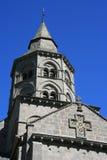 Klokketoren - Basiliek Notre-Dame - Orcival - Frankrijk Stock Fotografie
