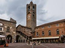 Klokketoren in Bergamo - Italië Stock Afbeelding