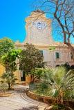Klokketoren bij Prins Alfred Courtyard in Valletta Royalty-vrije Stock Foto's