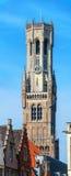 Klokketoren in Brugge, België stock afbeeldingen