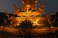 Klokketoren in Chiang Rai, Thailand Stock Afbeelding