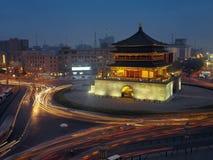 Klokketoren China - Xian Royalty-vrije Stock Afbeeldingen