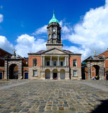 Klokketoren in Dublin Castle-werf Royalty-vrije Stock Afbeeldingen