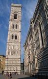 Klokketoren en kathedraal in Florence Royalty-vrije Stock Fotografie