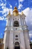 Klokketoren Heilige Veronderstelling Pechrsk Lavra Kiev Ukraine Royalty-vrije Stock Fotografie