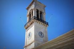 Klokketoren in Hydra-eiland Griekenland royalty-vrije stock foto's