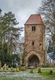 Klokketoren in Lemgo, Duitsland stock foto's