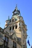 Klokketoren op stadhuis in Dunfermline, Schotland stock foto's