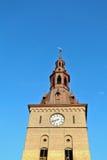 Klokketoren in Oslo, Noorwegen stock foto