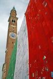 Klokketoren in Piazza dei Signori Vicenza Stock Foto's