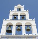 Klokketoren in santorini Stock Foto