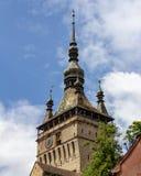 Klokketoren in SighiÈ™oara, Roemenië royalty-vrije stock afbeelding