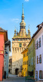 Klokketoren in Sighisoara Royalty-vrije Stock Foto