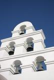 De Stijl van Santorini van de klokketoren Royalty-vrije Stock Foto's