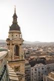 Klokketoren van basiliek in Boedapest Royalty-vrije Stock Foto's