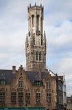 Klokketoren van Brugge, België royalty-vrije stock afbeelding