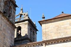 Klokketoren van de Kathedraal van Braga Stock Foto