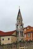 Klokketoren van de kerk van Heilige Elijah, Zadar Royalty-vrije Stock Afbeeldingen