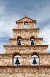 Klokketoren van de kerk van San Cristobal, Bolivië Royalty-vrije Stock Afbeeldingen