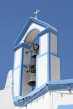 Klokketoren van een Griekse orthodoxe kerk, Simi Royalty-vrije Stock Foto's
