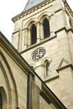 Klokketoren van een kerk in Tübingen Royalty-vrije Stock Foto's