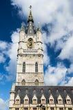 Klokketoren van Gent, België royalty-vrije stock foto's