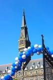 Klokketoren van Healy Hall Building bij de Universiteit van Georgetown royalty-vrije stock afbeeldingen
