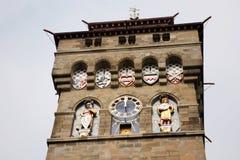 Klokketoren van het Kasteel van Cardiff stock afbeeldingen