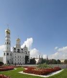 Klokketoren van Ivan The Great, Moskou, het Kremlin. Stock Foto's