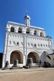 Klokketoren van Kathedraal St.Sophia in Novgorod royalty-vrije stock afbeelding