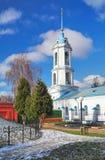 Klokketoren van Kerk van de Aankondiging in Zaraysk stock afbeelding