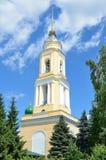 Klokketoren van klooster novo-Golutvin in Kolomna, het gebied van Moskou royalty-vrije stock afbeelding