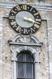 Klokketoren van Mons in België. royalty-vrije stock afbeelding