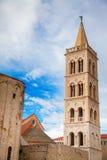 Klokketoren van St Donat ` s kerk in Zadar Stock Foto