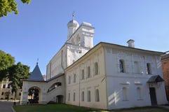 Klokketoren van St Sophia Cathedral in Novgorod het Kremlin Veliky Novgorod Royalty-vrije Stock Afbeelding