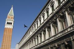 Klokketoren, Venetië, Italië stock foto