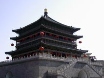 Klokketoren (Xian, China) Stock Foto's