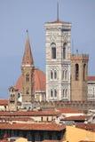 Klokketorens in Florence royalty-vrije stock afbeeldingen