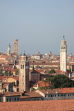 Klokketorens in Venetië stock foto's