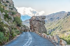 Klokrotsen in de Pas van Bains Kloof in de Westelijke Kaap royalty-vrije stock afbeeldingen