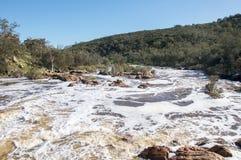 Klokstroomversnelling: Zwaanvallei, Westelijk Australië royalty-vrije stock foto's